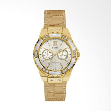 Guess U0775L2 Women Iconic White Di ...  Jam Tangan Wanita - Gold