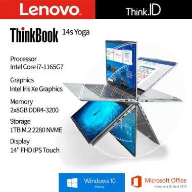 harga ThinkBook 14s Yoga Touch i7-1165G7 16GB 1TB NVMe Iris Xe Win10 OHS Mineral Grey Blibli.com
