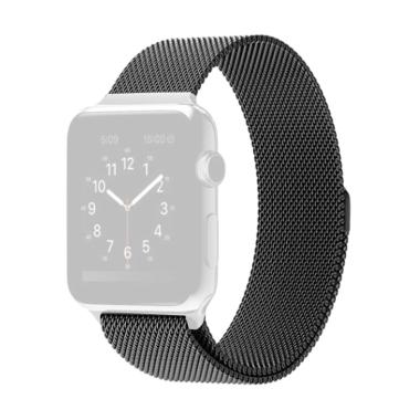 OEM Unisex Stainless Steel Magnet S ... h or iWatch 38 mm - Black