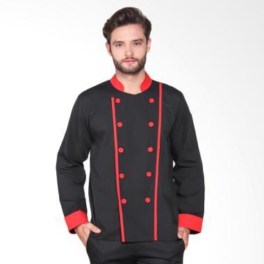 Chef Series Executive Tangan Panjan ... itam Garis Merah [Size L]