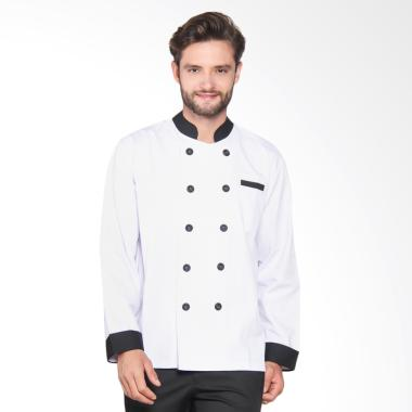 Chef Series Silver Series Tangan Panjang Baju Koki - Putih [Size S]