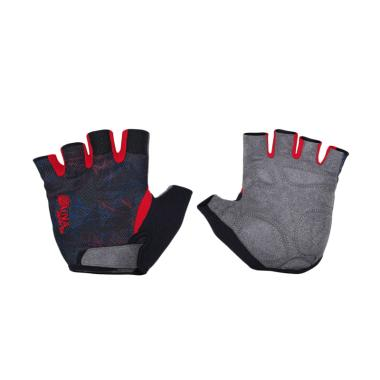 Zuna Sport Men Graphic Cycling Gloves - Putih [Size XL]
