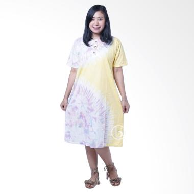 Mama Hamil DS 364 Batik Celup Jumputan Soft Baju Hamil Daster - Kuning