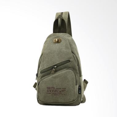Martinversa Import Best Kanvas Sling Bag Pria - Army Green CH14
