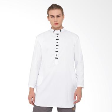 Zayidan Ihsan Baju Muslim Gamis Pria - Putih