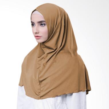 Najwa Hijab Kaos Katun TC Premium Jilbab Instan - Coklat Muda