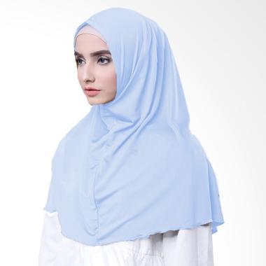 Najwa Hijab Kaos Katun TC Premium Jilbab Instan - Baby Blue