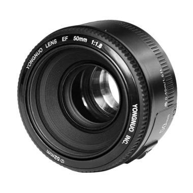 Yongnuo 50mm f1.8 Bokeh Lensa Kamera for Canon - Hitam