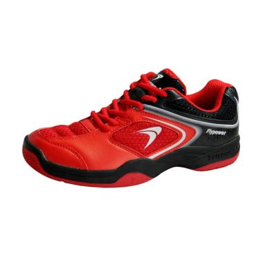 Flypower Pawon 3 Sepatu Badminton Unisex - Red Black White