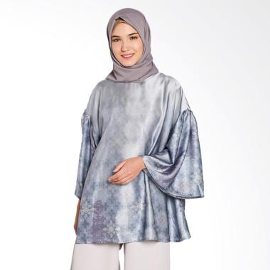 Ria Miranda Surau Blouse Atasan Muslim - Blue