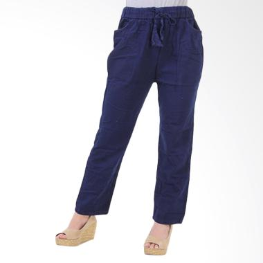 JSK Jeans JSK8202 Celana Panjang Jogger Wanita - Biru Dongker