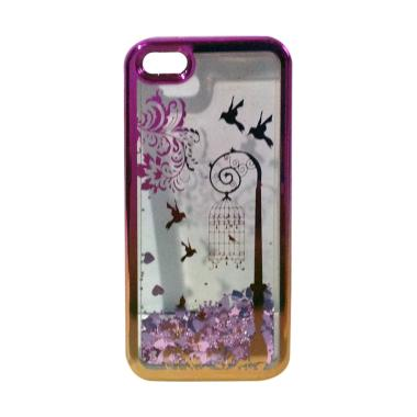 harga OEM Water Glitter Aquarium Motif Burung Dalam Sangkar Softcase Casing for iPhone 5 or 5S - Pink Gold Blibli.com