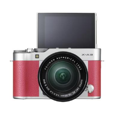 Fujifilm X-A3 Kit 16-50mm Kamera Mirrorless - Pink + SDHC 16GB