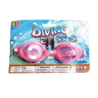 Kobucca Shop Swimming Diving Kacamata Renang Anak Polos - Pink