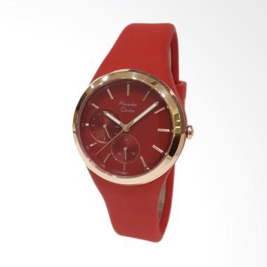 Alexandre Christie 2663BFRRGRE Rubber Strap Jam Tangan Wanita - Red