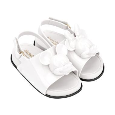 Mini Melissa Beach Slide Disney Sepatu Anak - White