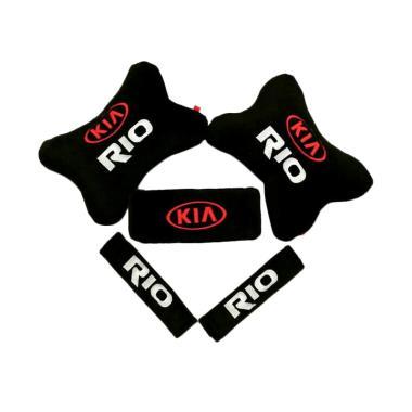 harga Indonesia Motor Motif KIA Rio 5 in 1 Set Aksesoris Interior Mobil - Black Blibli.com