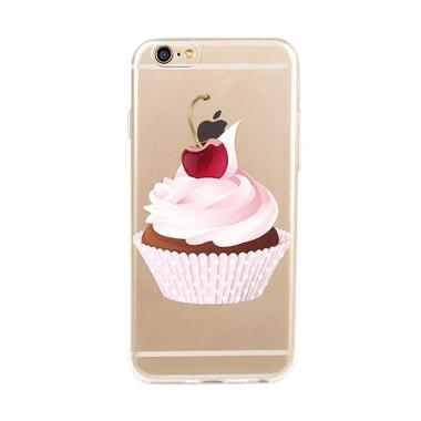 United Shop Cream Cherry Casing for iPhone 7 or 7S - Multicolor