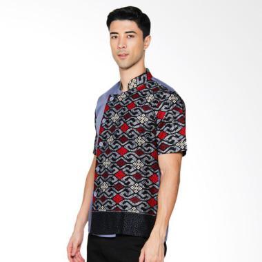 Chef Series Onyx Batik Tangan Pendek Baju Koki - Biru [Size S]
