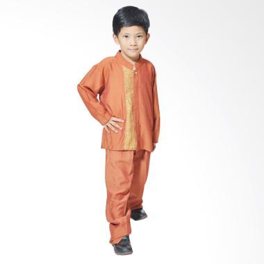 Mirtazani Mansur Faridi Setelan Pakaian Koko Anak - Orange