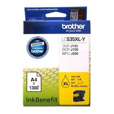 Brother LC535XL Y Colour Ink Benefit Tinta Printer - Yellow