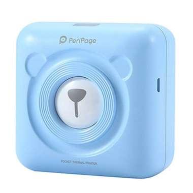 harga PeriPage Mini Pocket Wireless BT Thermal Printer Picture Photo Label Memo Receipt Paper blue Blibli.com