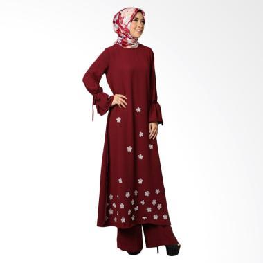 Queenalabels Lessia Kulot Setelan Pakaian Muslim Wanita - Maroon