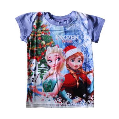J2 Christmas Frozen Kaos Anak - Ungu