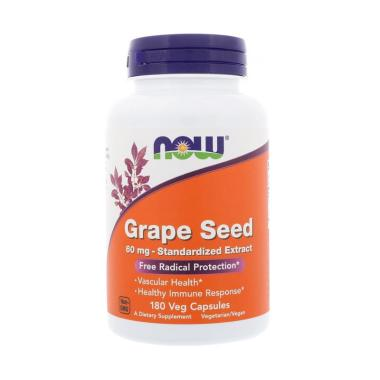 Now Foods Grape Seed 60 mg Standard ... plemen [180 Veg Capsules]