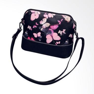 Lansdeal Printing Purse Satchel Messenger Leather Women Sling Bag