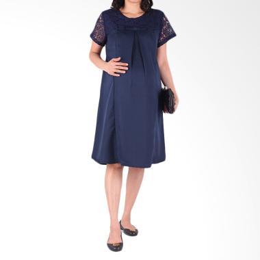 HMILL D1286 Dress Baju Hamil - Biru