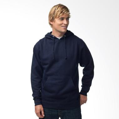 Refill Stuff Hoodie Polos Sweater Pria - Navy