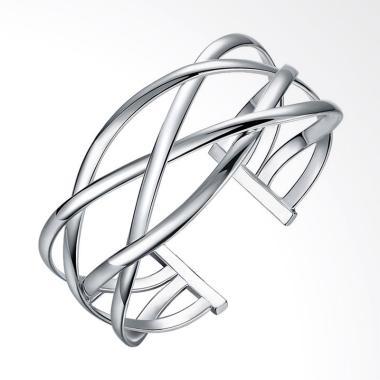SOXY LKNSPCB113 New Fashion Europea ... e Cross Bracelet - Silver