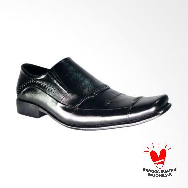 LISMEN Koningsdam LM-9654 Sepatu Kulit Pria - Hitam