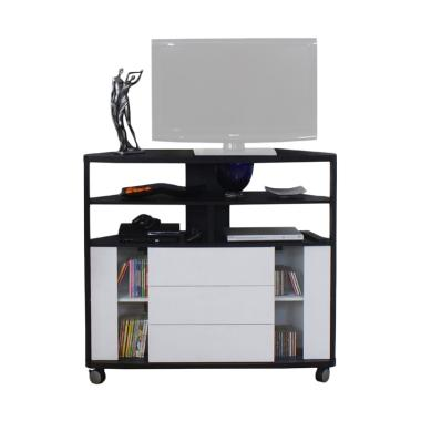 The Olive House CNR 1200 TV Cabinet - White Black