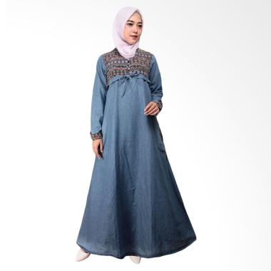 Adore Ladies 491677 Lengan Panjang Dress Muslim Wanita - Light Blue