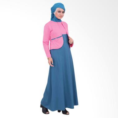Vemmella Gemma 07 Baju Gamis Muslim Wanita - Pink