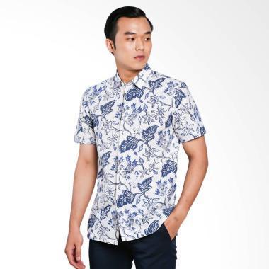 The Cufflinks Store Shirt Batik Cap ... a Batik Pria - White Blue