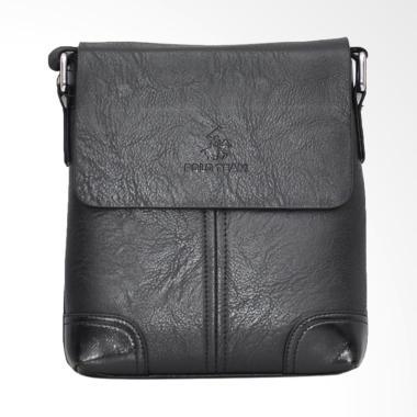 Polo Team PVC Leather Sling Bag Tas Pria- Black [Small/ A169-1]
