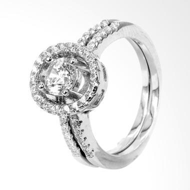 D'Paris Double Ring Zircon Cincin Wanita