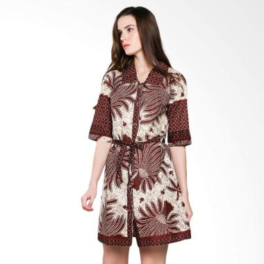 Koesoema Clothing Ghea Batik Tunic Dress Wanita  - Putih