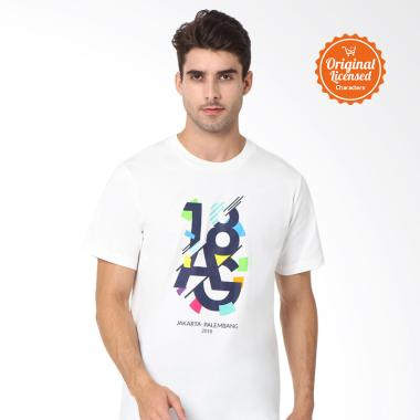 Asian Games 2018 Tee Artwork  Adult T-shirt Unisex - White