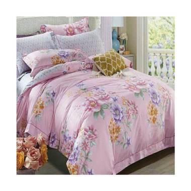 Melia Bedsheet J-4016 Katun Jepang Bed Cover - Floral Print
