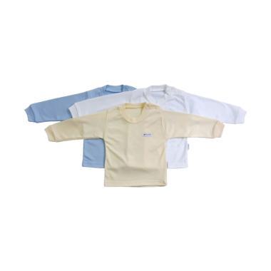 Aruchi Oblong Panjang Polos Baju Bayi Laki-laki [3 pcs]