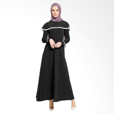 Jfashion Long Dress Maxi Variasi Re ... slim Wanita - Vinka Hitam