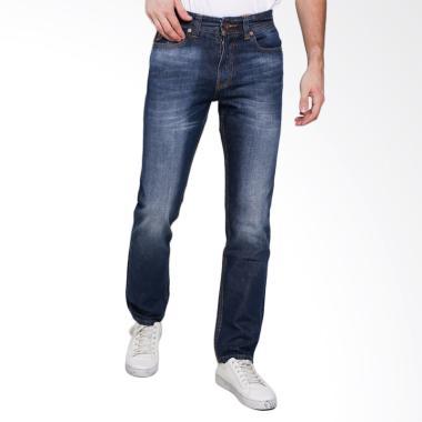 Lois Men Slim Chinos Twill Celana Panjang Pria - Blue Denim [442 D]