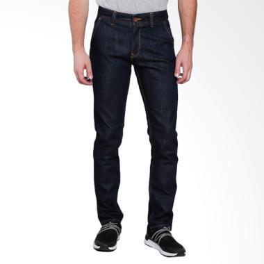 Lois Men Fashion Slim Denim Celana  ... - Dark Blue Denim [334 B]