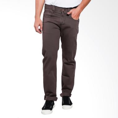 Lois Men Fashion Straight Denim Jeans Celana Pria - Dark Brown [429 B]