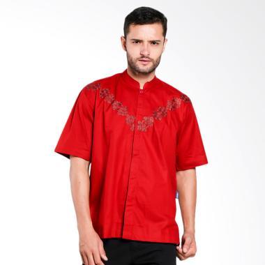 Aitana Bordir Baju Koko Pria - Merah [YN-11712-SS]