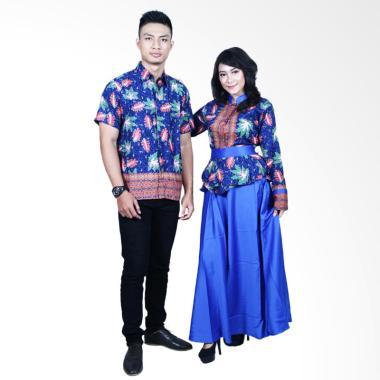 Batik Putri Ayu Solo SRG600 Batik Sarimbit - Biru